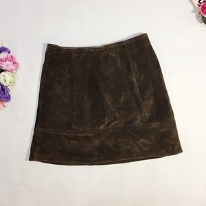 United Colors Of Benetton brown suede mini skirt
